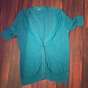 Vibrant blue cardigan